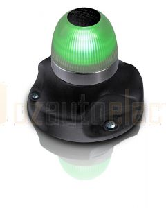 Hella 2LT980910-201 2 NM NaviLED 360 All Round Green Navigation Lamps, Surface Mount - Black Base