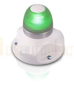 Hella 2LT980910-211 2 NM NaviLED 360 All Round Green Navigation Lamps, Surface Mount - White Base