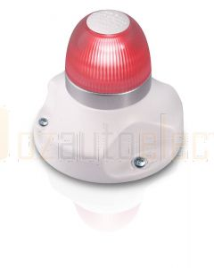 Hella 2LT980910-411 2 NM NaviLED 360 All Round Red Navigation Lamps, Surface Mount - White Base