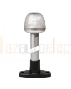 Hella 2LT959910-011 2 NM NaviLED 360 All Round White Pole Navigation Lamp, 8inch / 204mm - Black Base