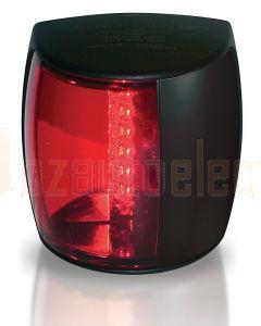 Hella 2LT959900-001 2 NM NaviLED PRO Port Navigation Lamp, Black Shroud - Red Lens
