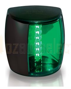Hella 2LT959908-001 2 NM NaviLED PRO Starboard Navigation Lamp - Black Shroud, Green Lens