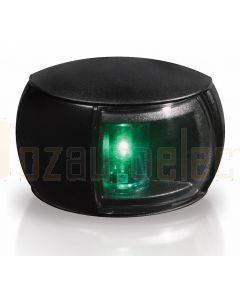 Hella 2LT980520-301 2 NM NaviLED Starboard Navigation Lamp - Black Shroud, Clear Lens (120mm Cable)