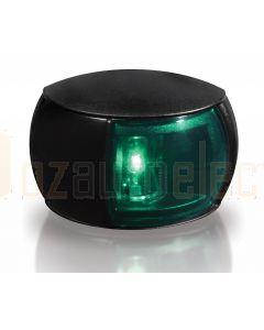 Hella 2LT980520-231 2 NM NaviLED Starboard Navigation Lamp - Black Shroud, Coloured Lens (2.5m Cable)