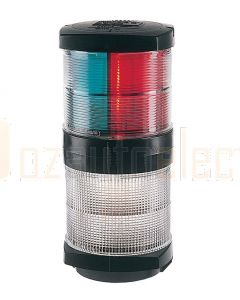 Hella 2845 2 NM Tri-Colour / Anchor Navigation Lamp - 12V DC, Black Housing