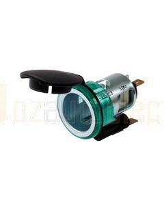Hella 2 Pole Power Socket - Illuminated, 12V (4942)