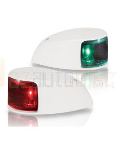 Hella  2LT980620-811 2NM NaviLED Deck Mount Port and Starboard Pair - White Shroud, Coloured Lens