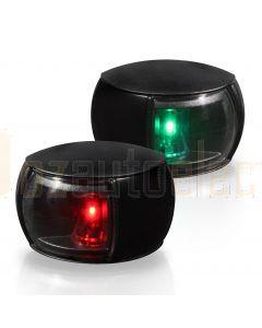 Hella 2LT980520-901 2NM NaviLED Port and Starboard Pair - Black Shroud, Clear Lens