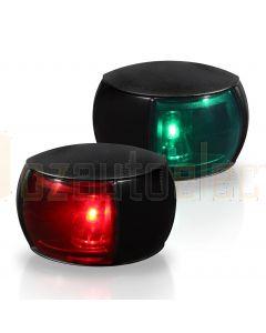 Hella 2LT980520-801 2NM NaviLED Port and Starboard Pair - Black Shroud, Coloured Lens