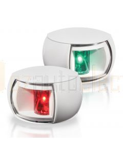 Hella 2LT980520-911 2NM NaviLED Port and Starboard Pair - White Shroud, Clear Lens