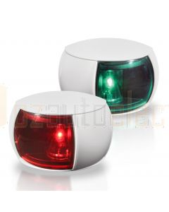 Hella 2LT980520-811 2NM NaviLED Port and Starboard Pair - White Shroud, Coloured Lens