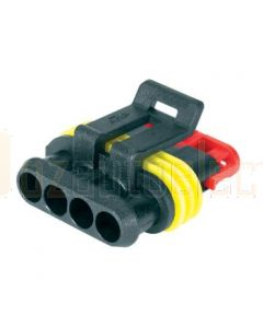 Hella Mining HM4984-P 4 Pole Super Seal Plug (Pack of 3)