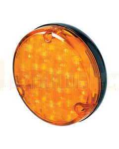 Hella 500 Series LED Front Direction Indicator - Amber, Black Housing (2135LED)