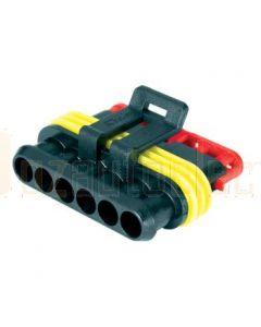 Hella Mining HM4986-P 6 Pole Super Seal Plug (Pack of 2)