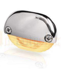 Hella Marine 2JA998560-351 Amber LED Easy Fit Step Lamp - 12-24V DC, Polished Stainless Steel Cap
