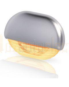 Hella Marine 2JA998560-341 Amber LED Easy Fit Step Lamp - 12-24V DC, Satin Chrome Plated Cap