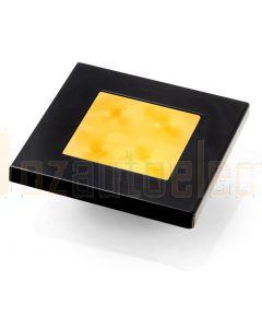 Hella Marine 2XT980587-041 Amber LED Square Courtesy Lamp - 12V DC, Black Plastic Rim