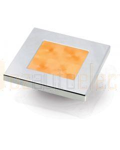 Hella Marine 2XT980587-071 Amber LED Square Courtesy Lamp - 12V DC, Chrome Plated Rim