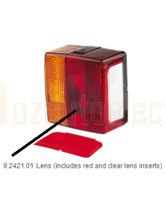 Hella Amber / Red Lens to suit Hella 2421 (9.2421.01)
