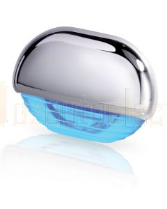 Hella Marine 2JA998560-041 Blue LED Easy Fit Step Lamp - 12-24V DC, Chrome Plated Cap