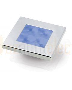 Hella Marine 2XT980582-271 Blue LED Square Courtesy Lamp - 12V DC, Chrome Plated Rim