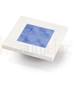 Hella Marine 2XT980582-251 Blue LED Square Courtesy Lamp - 12V DC, White Plastic Rim