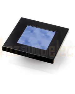 Hella Marine 2XT980583-241 Blue LED Square Courtesy Lamp - 24V DC, Black Plastic Rim