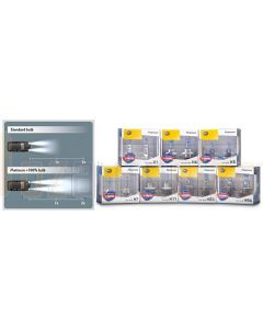 Hella H4-PW100DP2 H4 Platinum White Plus 100% Globe Kit