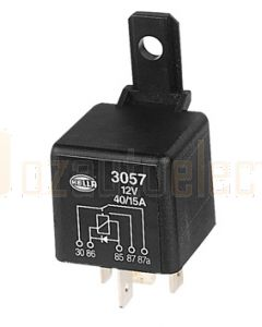 Hella 3057 Change-Over Relay with Diode - 5 Pin, 12V DC