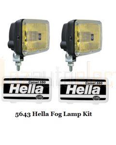 Hella Comet 550 Series Fog Lamp Kit - Amber Optic (5643)