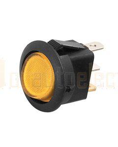 Hella Compact Off-On Rocker Switch - Amber Illuminated, 12V (4445)