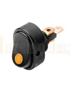 Hella Compact Off-On Rocker Switch - Amber Illuminated, 12V (4476)