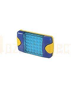 Hella Mining HM95903760 DuraLed M-Series High Intensity Warning Beacon - Narrow Beam Bare Wire, Blue