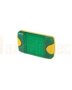Hella Mining HM95903780 DuraLed M-Series High Intensity Warning Beacon - Narrow Beam Bare Wire, Green