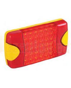 Hella Mining HM95903700D DuraLed M-Series High Intensity Warning Beacon - Narrow Beam DT Plug, Red