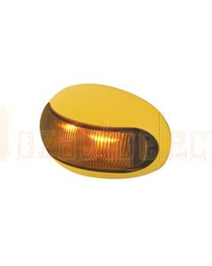Hella Mining HM2026 DuraLED Marker Lamp Bare Wire - Amber Cabin Marker