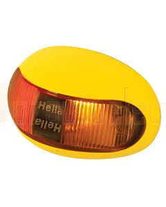 Hella Mining HM2053PC DuraLED Marker Lamp Bare Wire -  Red/Amber Side Marker