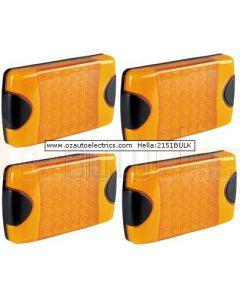 Hella 2151BULK Pack of 4 DuraLed Amber Rear Direction Indicator
