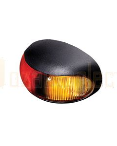 Hella 2053OEBULK DuraLed Side Marker - Red / Amber Illuminated (Pack of 24)