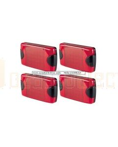 Hella 2330BULK DuraLed Red Stop / Rear Position Lamp Pack of 4