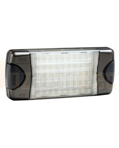 Hella DuraLed Universal High Efficacy 50 LED Wide Spread Beam Lamp - Charcoal Housing (98060403)