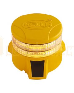 Hella DuraRAY Series - Amber MultiFLASH, 2 LED Discs, Yellow Housing (HM9386YEL2A)