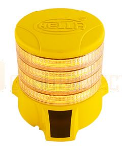 Hella DuraRAY Series - Amber MultiFLASH, 4 LED Discs, Yellow Housing (HM9386YEL4A)