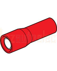 Hella Female Bullet Connectors - Red (Pack of 100) (8522)