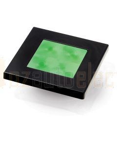 Hella Marine 2XT980582-041 Green LED Square Courtesy Lamp - 12V DC, Black Plastic Rim