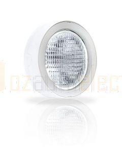 Hella Marine 1GM996134-511 Halogen 6134 Series Flush Mount Floodlights - 24V White, Structured Lens