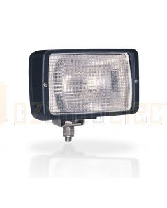 Hella Marine 1GA007118-091 Halogen 7118 Series Floodlights - 12V Black, Structured Lens