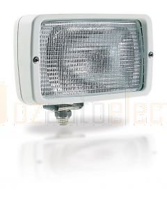 Hella Marine 1GA007118-001 Halogen 7118 Series Floodlights - 12V Off White, Structured Lens