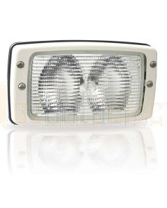 Hella Marine 1GB998542-001 Halogen 8542 Series Flush Mount Floodlight - 12V White, Structured Lens