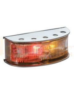 Hella HD LED Side Marker - Red / Amber Illuminated, Polished S/S Housing (2058P)